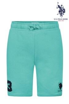 U.S. Polo Assn Green Player 3 Sweat Shorts