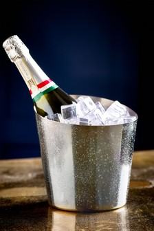 Silver Glitter Champagne Bucket