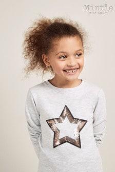 Mint Velvet Grey Sequin Star T-Shirt