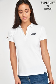 Superdry White Marl Polo