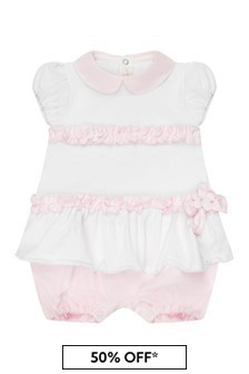 Bimbalo Baby Girls White Cotton Set