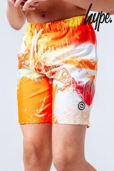 Hype. Orange Spray Swim Shorts