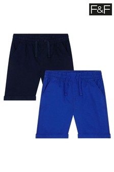 F&F Blue Ripstop Shorts 2 Pack