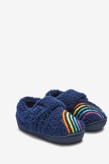 Navy Rainbow Cupsole Slippers