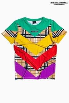Society Sport Kids Multi Check T-Shirt