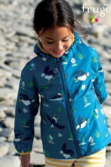 Frugi National Trust Blue Puffins Packaway Jacket
