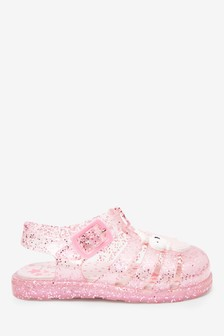 Pink Unicorn Cushioned Footbed Jelly Sandals (Younger)