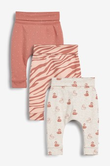 Rust 3 Pack Swan Joggers (0mths-3yrs)