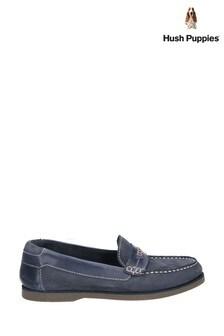 Hush Puppies Blue Finn Slip-On Shoes