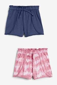 Blue Tie Dye 2 Pack Jersey Shorts (3-16yrs)