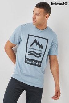 Timberland Blue Printed T-Shirt
