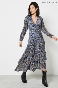 Mint Velvet Maeve Print Wrap Midi Dress