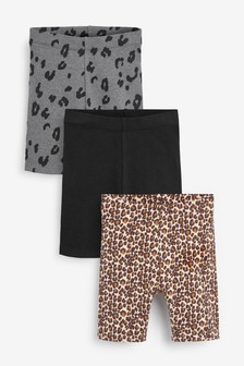 Animal Print 3 Pack Cycling Shorts (3mths-7yrs)