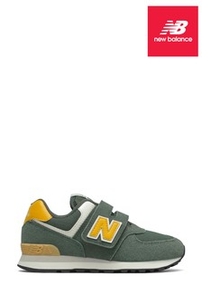 New Balance Green Junior 574 Trainers
