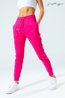 Hype. Womens Pink Heart Joggers