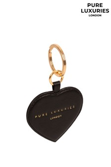 Pure Luxuries London Albany Leather Heart Keyring