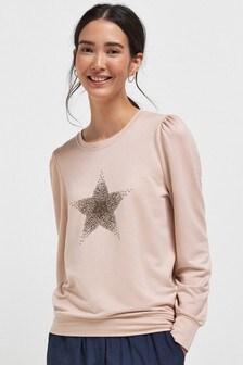 Pink Embellished Sweatshirt