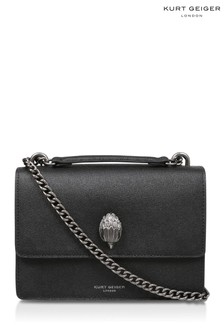 Kurt Geiger London Black Shoreditch Leather Cross Body Bag