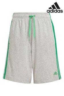 adidas Grey 3 Stripe Shorts