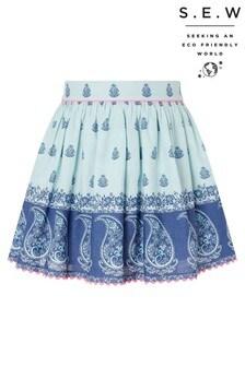 Monsoon Blue S.E.W Dannika Print Skirt