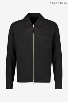 AllSaints Black Konta Zip Jacket