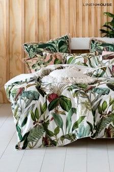 Wonderplant Botanical Leaf Duvet Cover and Pillowcase Set by Linen House