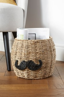Moustache Storage Basket
