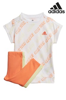 adidas Infant Coral T-Shirt And Leggings Set