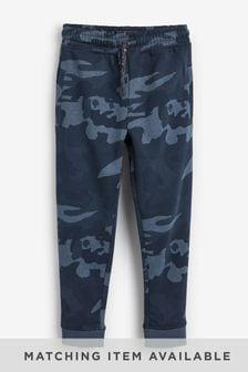 Blue Camo Slim Fit Cuffed Joggers (3-16yrs)