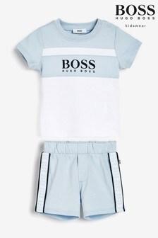 BOSS Blue T-Shirt And Shorts Set