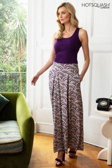 HotSquash Purple Box Pleat Maxi Skirt