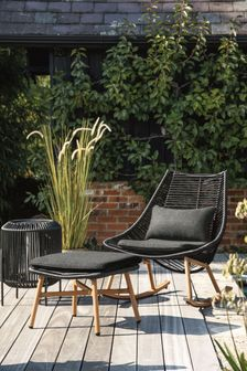 Black Helsinki Rocking Chair With Footstool