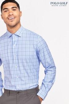 Polo Golf by Ralph Lauren Grey Window Check Shirt