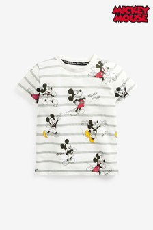 Blue/Ecru Mickey Mouse™ Stripe Jersey T-Shirt (3mths-8yrs)