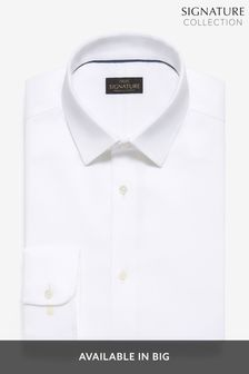 White Regular Fit Single Cuff Non-Iron Egyptian Cotton Stretch Signature Shirt