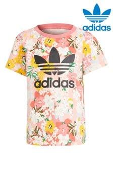 adidas Originals Little Kids Pink Floral T-Shirt
