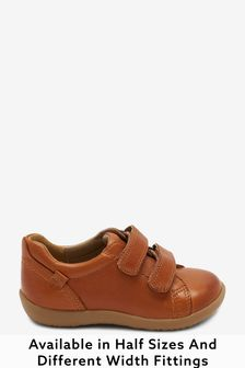 Tan Standard Fit (F) Little Luxe™ Leather Shoes