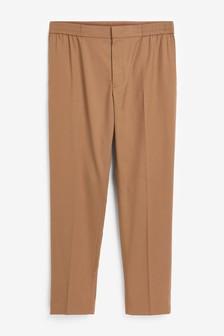 Tan Drawstring Formal Trousers