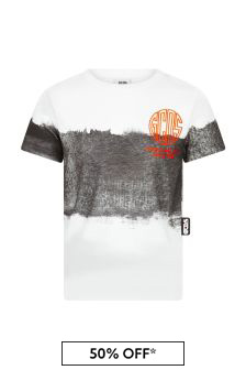GCDS Mini Boys White Cotton T-Shirt