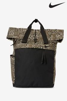 Nike Black Leopard Print Radiate Backpack