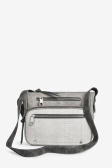 Grey Utility Across-Body Bag
