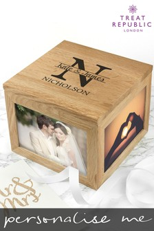 Personalised Couples Photo Cube by Treat Republic