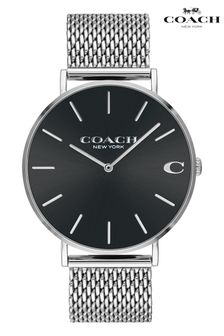 Coach Stainless Steel Mesh Charles Watch