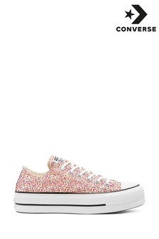 Converse Lift Floral Chuck Ox Trainers