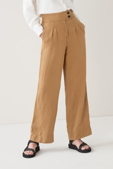 Tan Belted Trousers