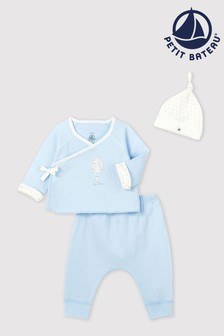 Blue Petit Bateau Blue Two Piece Set