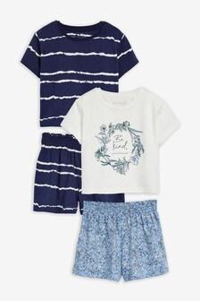 Blue 2 Pack Be Kind Short Pyjamas (3-16yrs)