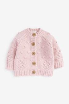 Pink Chunky Bobble Cardigan (3mths-7yrs)