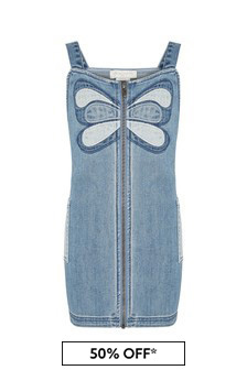 Stella McCartney Kids Girls Blue Cotton Dress