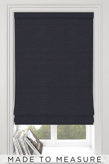 Jasper Onyx Black Made To Measure Roman Blind